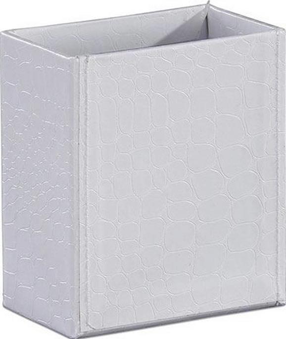 Írószertartó Doboz Krokodilbőr Hatás - Fehér, Lifestyle, Karton (10,2/9/5,2cm) - Mömax modern living