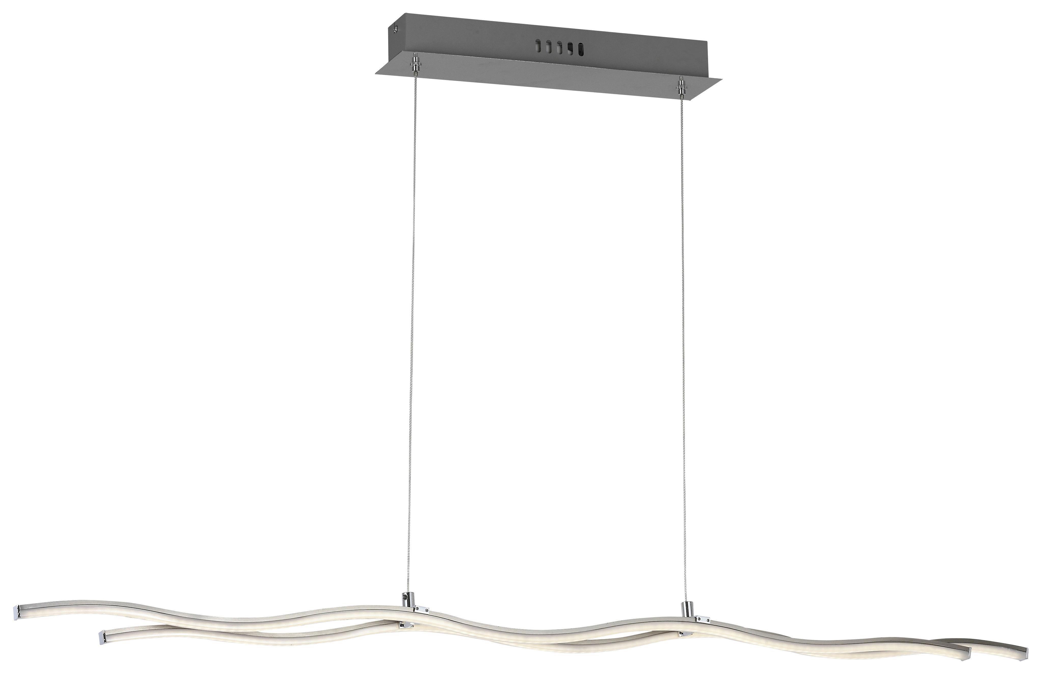 Függőlámpa Wave Line - krómszínű, konvencionális, műanyag/fém (100/120/8cm)