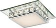Stropna Svetilka Dana -top- - krom/opal, Konvencionalno, kovina/umetna masa (25/25/7,5cm) - Mömax modern living