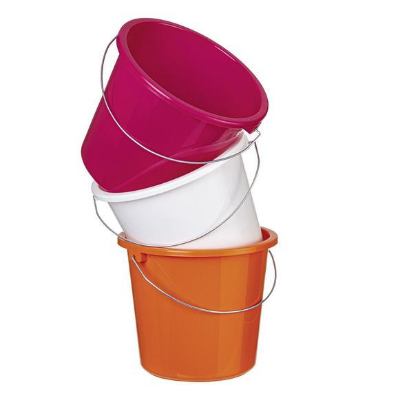 Găleată Plastic Rosi - roz aprins/alb, plastic/metal (5l)