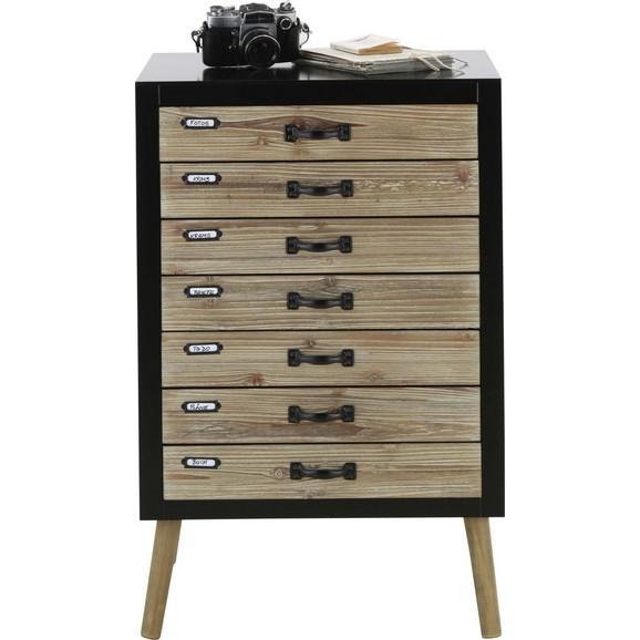 kommode in naturfarben schwarz online kaufen m max. Black Bedroom Furniture Sets. Home Design Ideas