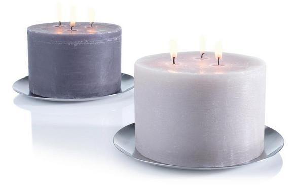 Kerzenteller Aurora Silber - Silberfarben (20/1,4cm) - Mömax modern living