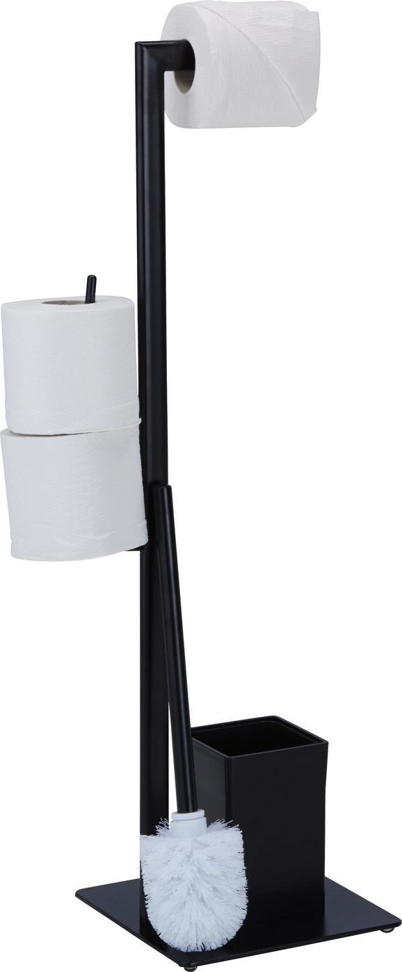 Kombinacija Z Wc-ščetko Gregotti-2 - črna, kovina/umetna masa (20/71/20cm) - Mömax modern living