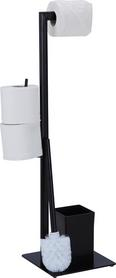 WC-Bürstenkombination Gregotti-2 - Schwarz, Kunststoff/Metall (20/71/20cm) - Mömax modern living