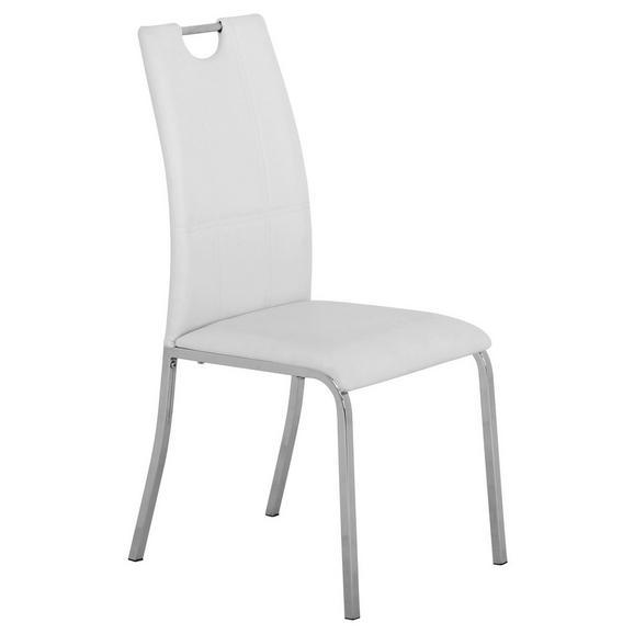 Stol Mandy - bela/krom, Konvencionalno, kovina/tekstil (42/96/60cm) - Mömax modern living