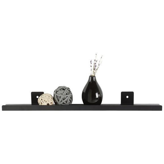 Stenska Polica Mark - črna, Moderno, kovina (60/9/5cm)
