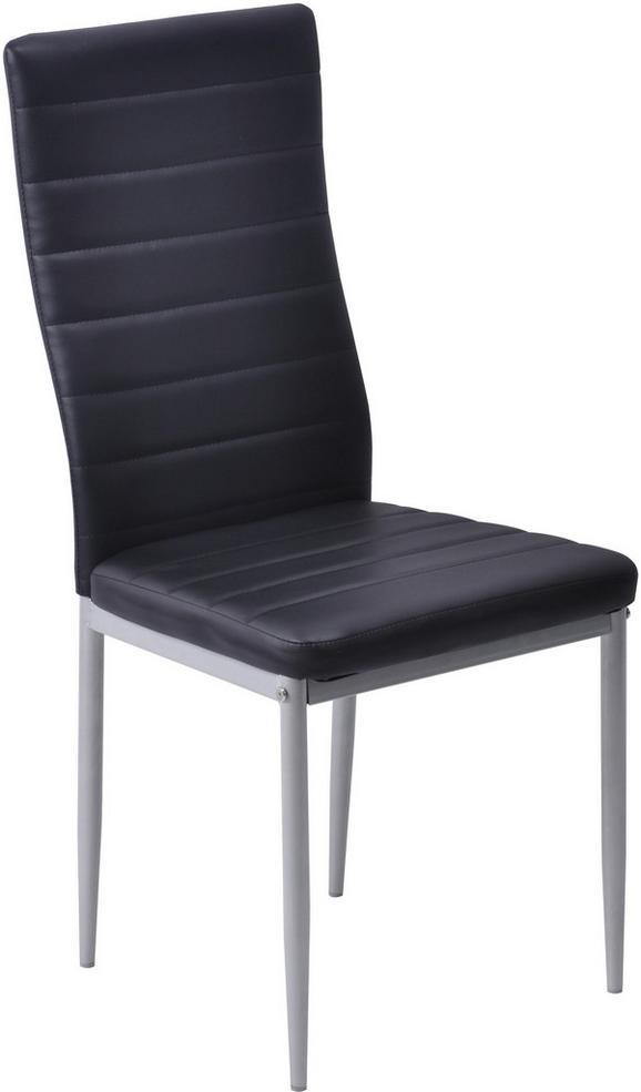 Stuhl Schwarz - Schwarz, MODERN, Textil/Metall (43/97/51cm) - Based