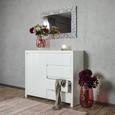Kommode in Weiß Hochglanz - Weiß, MODERN, Holzwerkstoff (112,4/96,4/40cm) - Mömax modern living