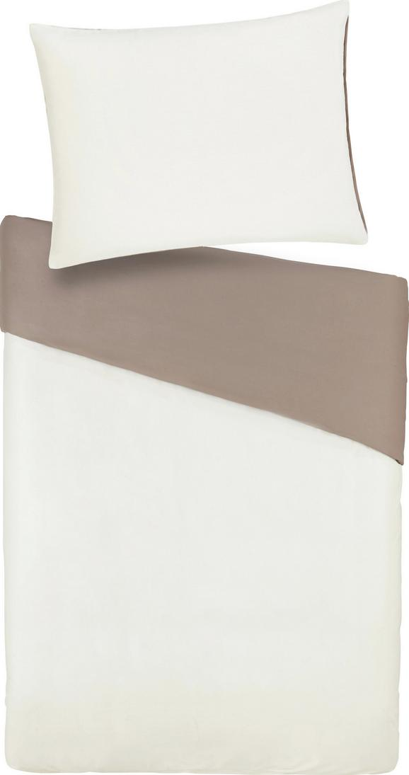 Bettwäsche Belinda Creme/sand 200x200cm - Sandfarben/Creme, Textil (200/200cm) - Premium Living