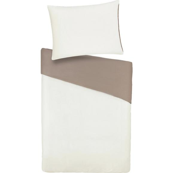 Posteljnina Belinda - peščena/krem, tekstil (200/200cm) - Premium Living