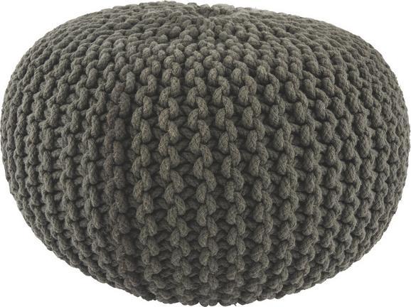 Sitzkissen Aline - Anthrazit, Textil (55/35cm) - Premium Living