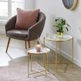 Mizica Leah - roza/zlata, Moderno, kovina (37/40cm) - Modern Living