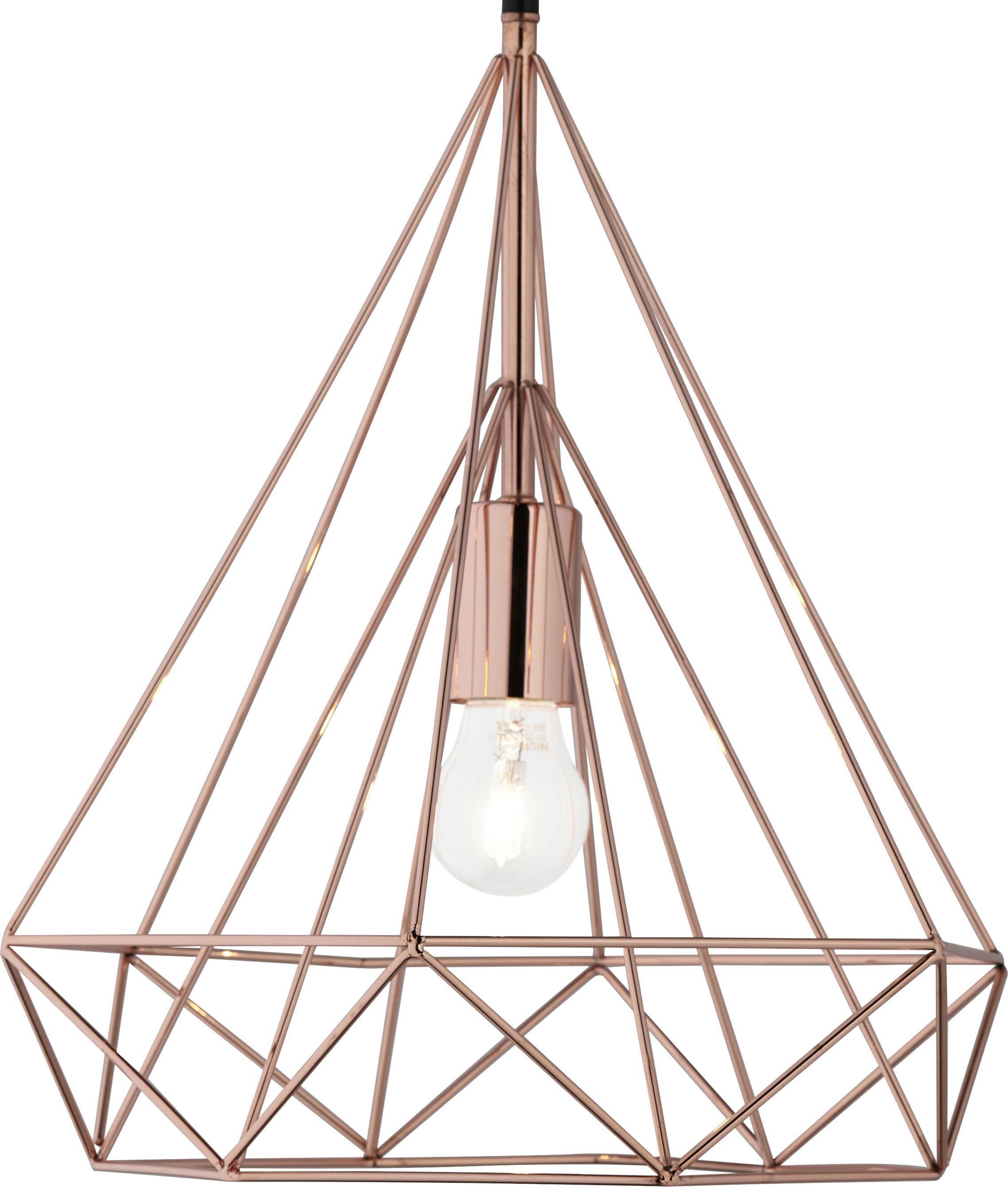 Hängeleuchte Yvonne - Goldfarben, MODERN, Kunststoff/Metall (36/36/150cm) - MÖMAX modern living