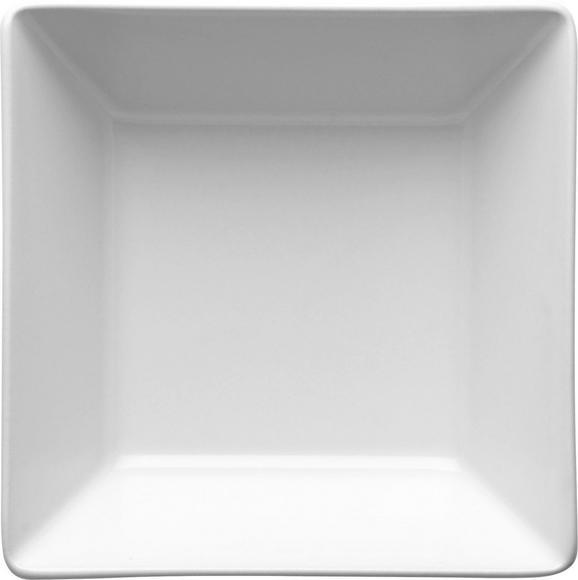 Müslischale Manhattan City in Weiß - Weiß, MODERN, Keramik (12,7/4,8/12,7cm)