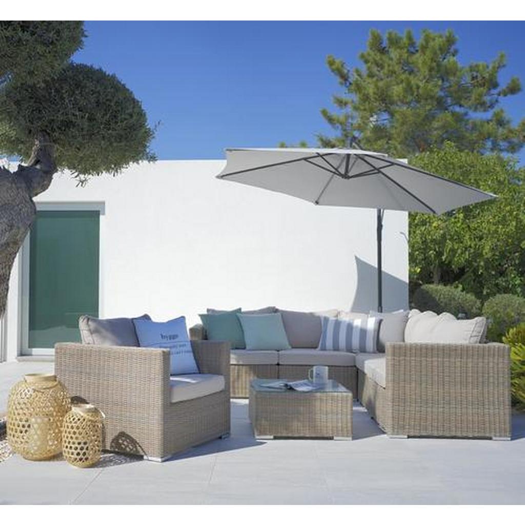 Loungegarnitur Monaco in Braun/Beige