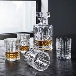 Gläserset: Karaffe und 4 Whiskeygläser Nachtmann - Klar, KONVENTIONELL, Glas - Nachtmann