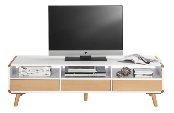 TV-Element Daniel - Buchefarben/Weiß, Holz (160/45/39,5cm) - PREMIUM LIVING