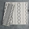 Flachwebeteppich Edgar in Creme 100x150cm - Silberfarben/Creme, MODERN, Textil (100/150cm) - Modern Living