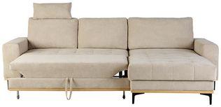 Funkcijska Sedežna Garnitura Casper - črna/bež, Konvencionalno, kovina/tekstil (272/87/170cm) - Zandiara