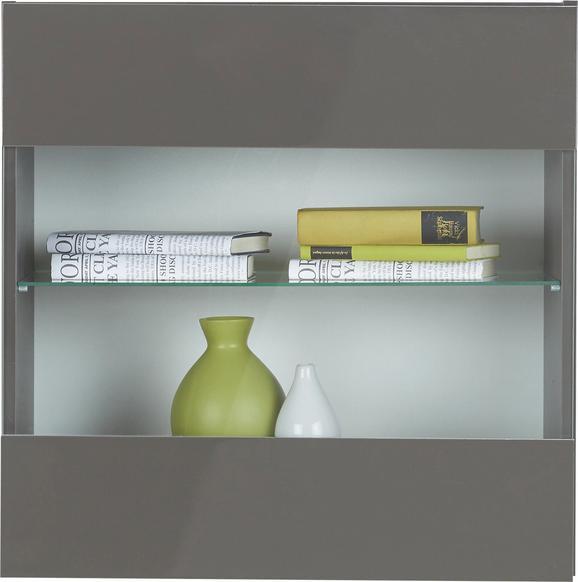 Viseča Vitrina Match Antracitna - antracit, Moderno, steklo/leseni material (60/60/34cm) - Based