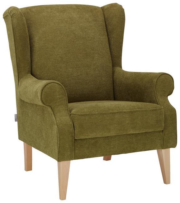 Ohrensessel in grün naturfarben grün textil 82 95 48