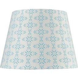 Lámpaernyő Agnes - Világoskék/Fehér, modern, Textil (16,5-20/15,6cm) - Mömax modern living