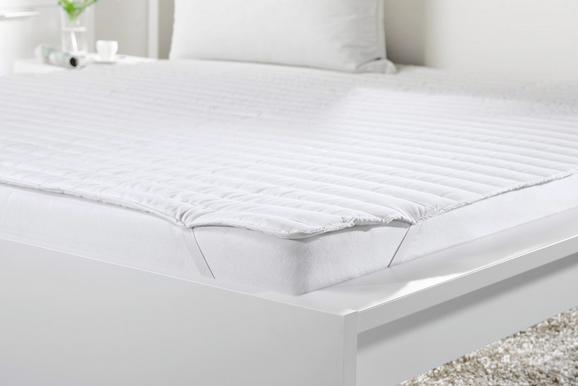POSTELJNI NADVLOŽEK Klaus - bela, tekstil (180/200cm) - Mömax modern living