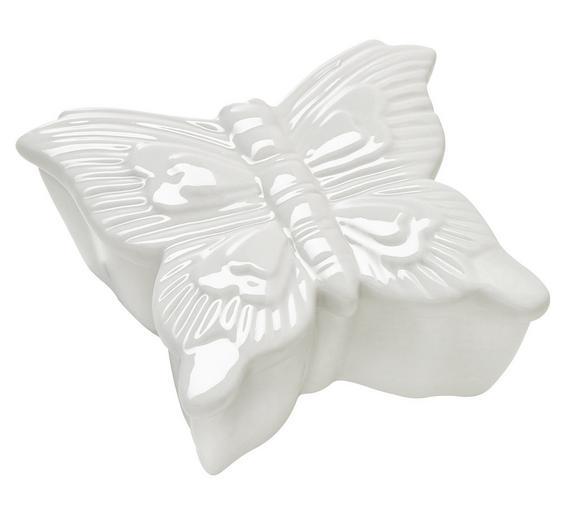 Posoda Butterfly - bela, keramika (7,5/4,5/7,5cm) - Mömax modern living