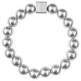 Raffhalter perlenkette in Silberfarben - Silberfarben, ROMANTIK / LANDHAUS, Kunststoff (29cm) - Mömax modern living