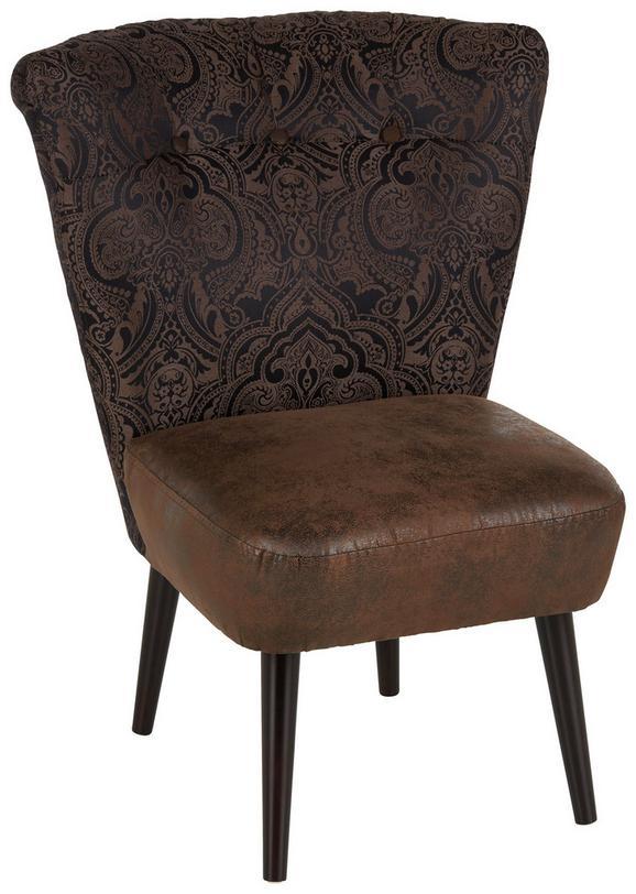 Fotelja Estella - tamno smeđa/smeđa, Lifestyle, drvo/tekstil (67/85/44/68cm) - Modern Living