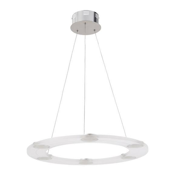 Pendelleuchte Luis mit LED 6-flammig - Chromfarben, Kunststoff/Metall (60/60/120cm) - Bessagi Home