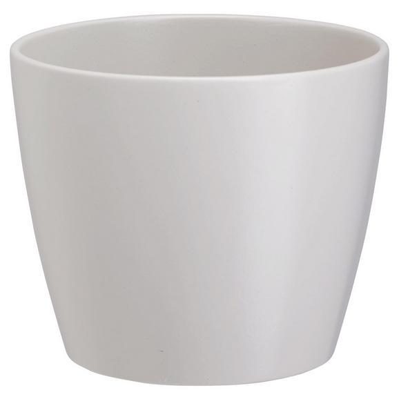 Blumentopf Luisa in verschiedenen Farben - Rosa/Weiß, MODERN, Keramik (31/25cm) - Mömax modern living