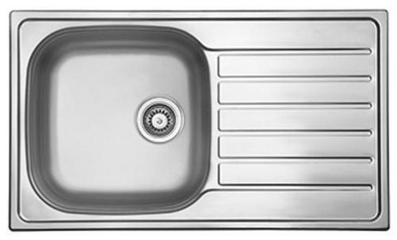 Spüle Dallas 86x50 - Edelstahlfarben, MODERN, Metall (86/17/50cm)