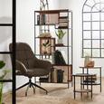 Beistelltischset aus Akazie massiv, 2-teilig - Schwarz/Naturfarben, LIFESTYLE, Holz/Metall (46/39/51/40cm) - Premium Living