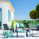 Lounge Garnitura Pentos - črna, Moderno, kovina/umetna masa - Modern Living
