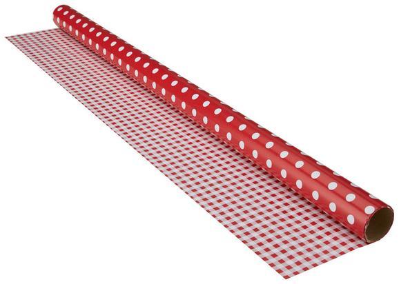 Geschenkpapier Marie in Rot/Weiß - Rot/Weiß, Papier (70/200cm)