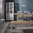Hocker Nicolo - Eichefarben/Weiß, MODERN, Holz (35/50cm) - Modern Living
