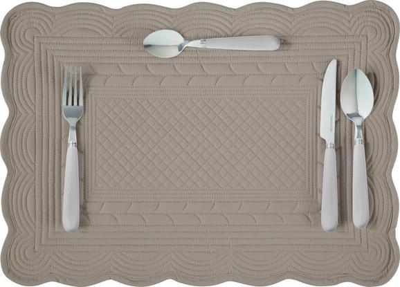 Tischset Linda in Creme, Grau - Grau, ROMANTIK / LANDHAUS, Textil (50/70cm) - MÖMAX modern living
