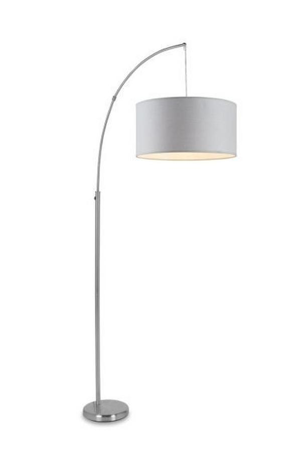 Leuchtenfuß Sarah, max. 60 Watt - Silberfarben, Stein/Metall (85/185cm) - Mömax modern living