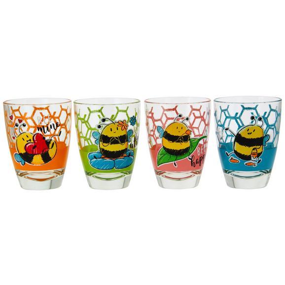 Trinkglas Bee in verschiedenen Designs - Blau/Pink, Glas - Mömax modern living