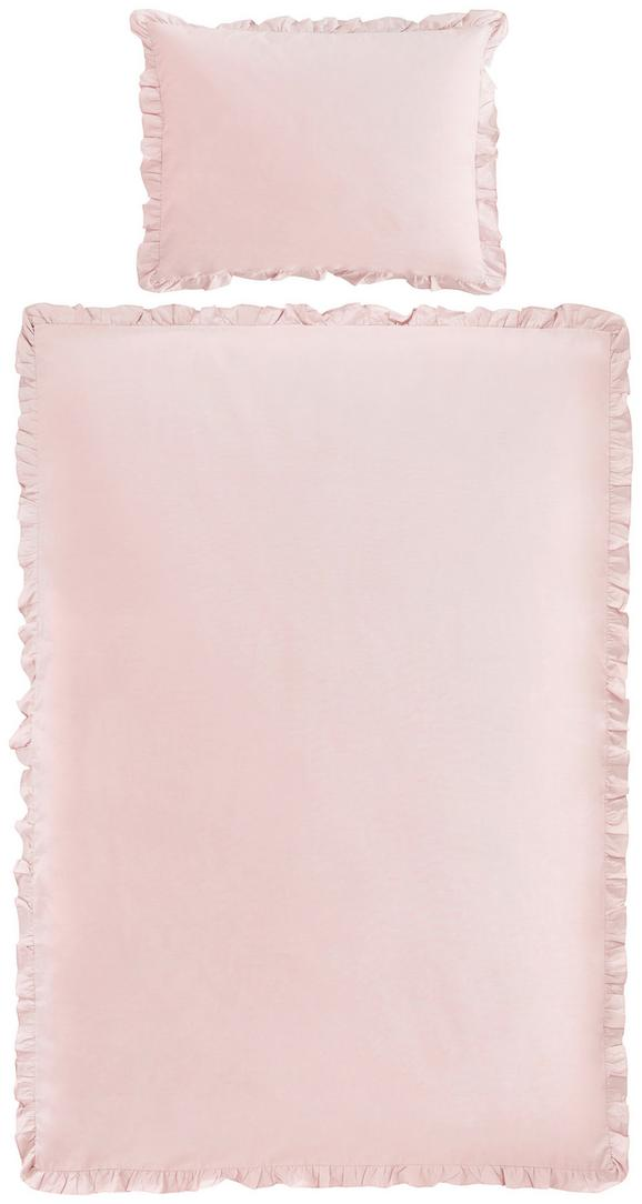 Ágyneműhuzat-garnitúra Rüschen - Fáradt rózsaszín, romantikus/Landhaus, Textil (140/200cm) - Zandiara