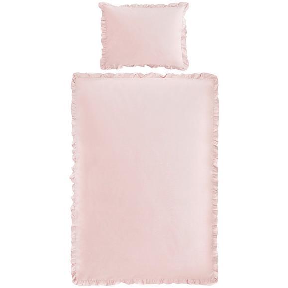 Posteljnina Rüschen - pastelno roza, Romantika, tekstil (140/200cm) - Zandiara