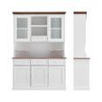 BUFFET aus Kiefer 'Alessandra' - Weiß/Kieferfarben, MODERN, Holz (132/191/40,5cm) - Bessagi Home