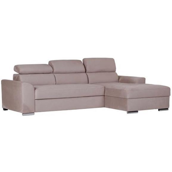 Sedežna Garnitura Abba - krom/bež, Moderno, kovina/tekstil (167/246cm) - Mömax modern living