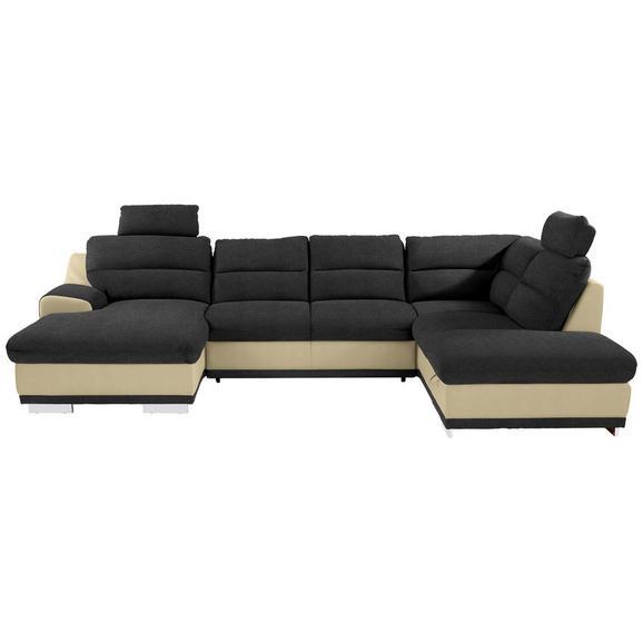 Sedežna Garnitura Seaside - naravna/črna, Konvencionalno, kovina/tekstil (165/334/218cm) - Premium Living