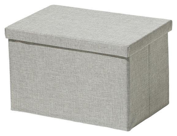 Tárolódoboz Cindy - ezüst színű, modern, textil (38/26/24cm) - MÖMAX modern living
