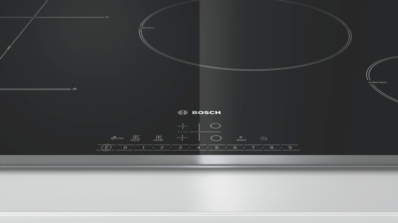 Induktionskochfeld Bosch Pit845f17e, 4 Kochzonen - KONVENTIONELL, Glas/Metall (79,5/5,5/51,7cm) - BOSCH