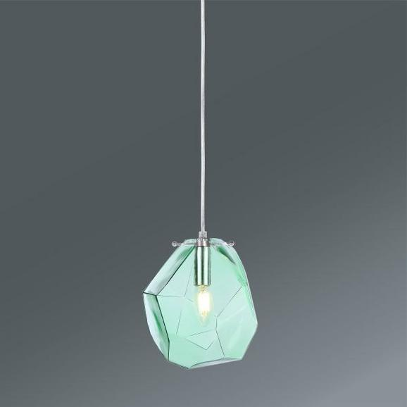 Hängeleuchte Amira, max. 40 Watt - Grün, MODERN, Glas/Metall (21/18/120cm) - Mömax modern living