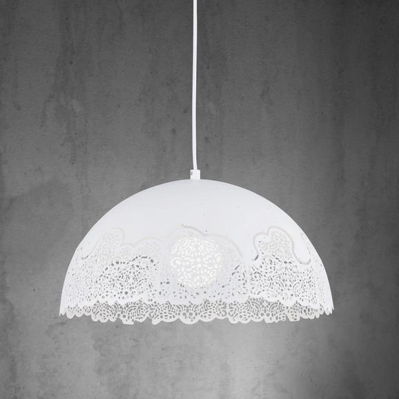 Hängeleuchte Stanka - Weiß, MODERN, Metall (40/120cm) - Modern Living