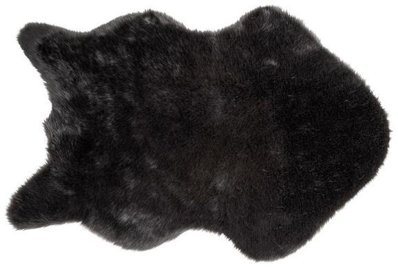 Kunstfell Lisa Schwarz 60x90cm - Schwarz/Rosa, Textil (60/90cm) - Mömax modern living